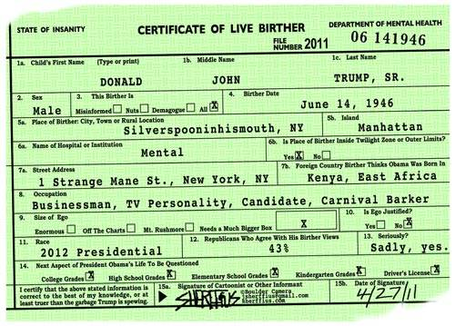 Trump Birth Certificate