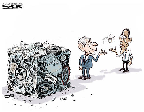 Handing the Mess to Obama