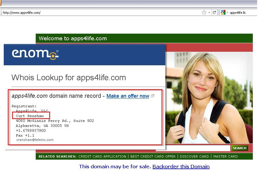 Apps4Life Domain Information