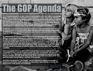 The GOP Agenda by Sean Bond
