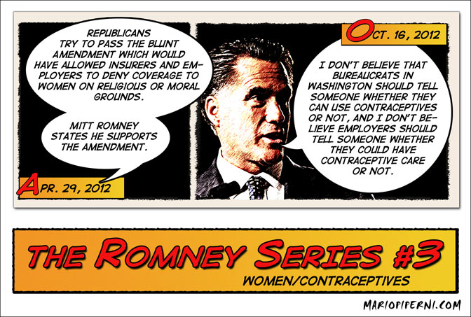 Romney Flips on Contraception
