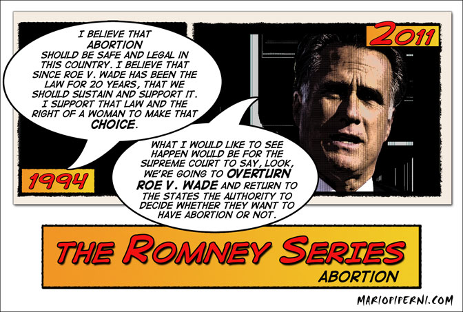 Romney Flips on Abortion